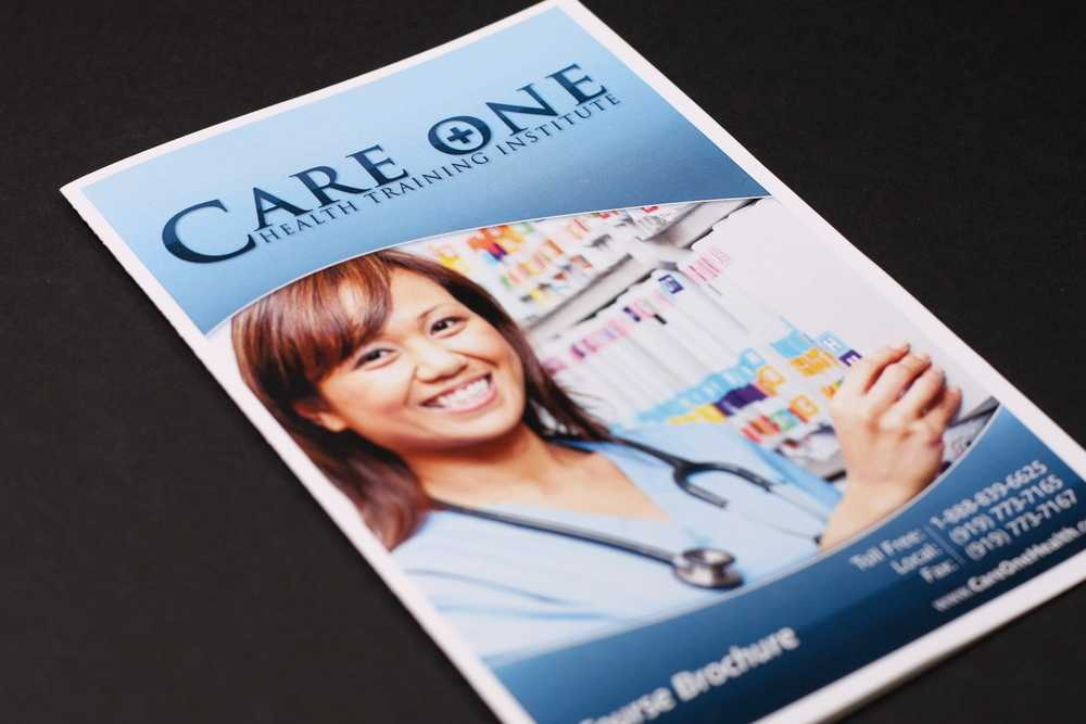 Jon Horton Portfolio: Care One - Course Brochure image